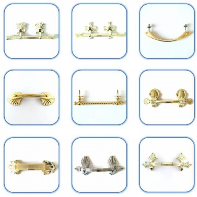 HP015 size 21.5x8.6cm gold color  Plastic coffin handle and  Casket  Fittings