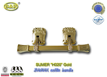 Good Quality Metal Coffin Handles & Italy style zamak metal casket coffin swing bar H020 zamak handle size 31.5*12cm polished and plating on sale