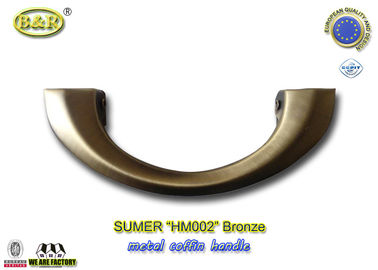 Good Quality Metal Coffin Handles & HM002 Metal Coffin Handles  Die Casting color antique bronze size 20*8 cm moon shape european design on sale