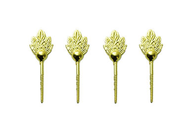 Good Quality Metal Coffin Handles & Brass color zamak leaf screw for coffin lid , coffin fittings D005 on sale