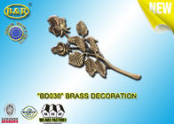 China No . BD030 Brass Roses Bronze Funeral Decoration Size 23.5×11 Cm Material Copper Alloy factory