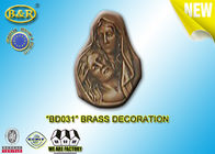 China No . BD031 Brass Decoration Bronze Madonna Funera Size 13×17.5 Cm Material Copper Alloy factory