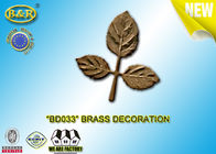 China Ref No BD033 Brass Leaf Tombstone Decoration Bronze Leaves Material Copper Alloy factory