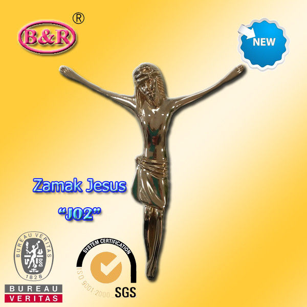 Metal Jesus Size 12.5*15cm Zinc Alloy Cross And Crucifix Part For Funeral Ritual Or Church