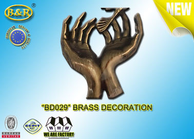 No. BD029 Brass Hands Tombstone Decoration Bronze Funeral Accessories Size 17.5*10 Cm Copper Alloy